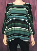 Hunter Green Stripe Top