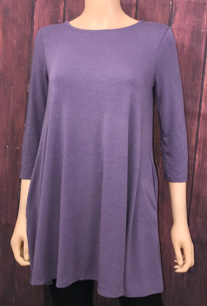 Lilac Top with Pockets