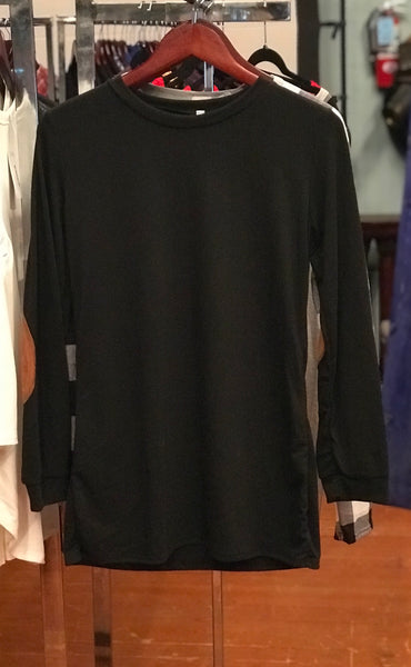 Black Long Sleeve with Elbow Patches