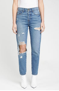 High Rise Button Fly Jean