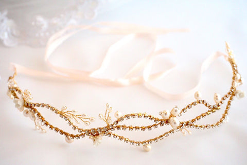 Gold Bridal Hairvine