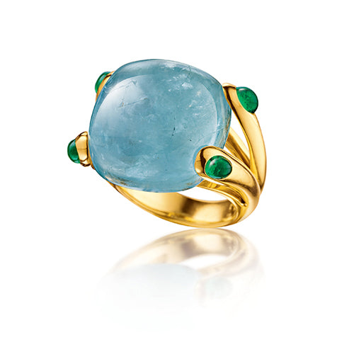 Verdura-Jewelry-Candy-Ring-Aquamarine-Emerald-Gold