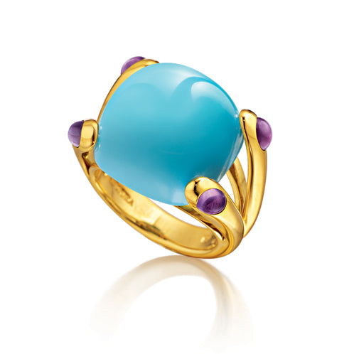 Verdura-Jewelry-Candy-Ring-Turquoise-Amethyst
