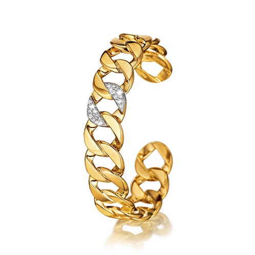Verdura-Jewelry-Curb-Link_Bangle-Yellow-Gold-Diamond