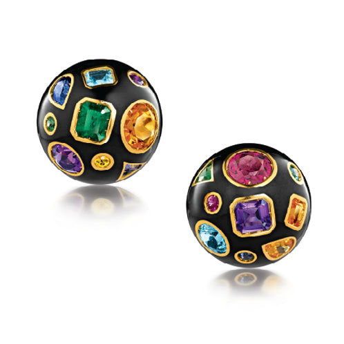 Verdura-Jewelry-Fulco-Earclips-Gold-Black-Enamel