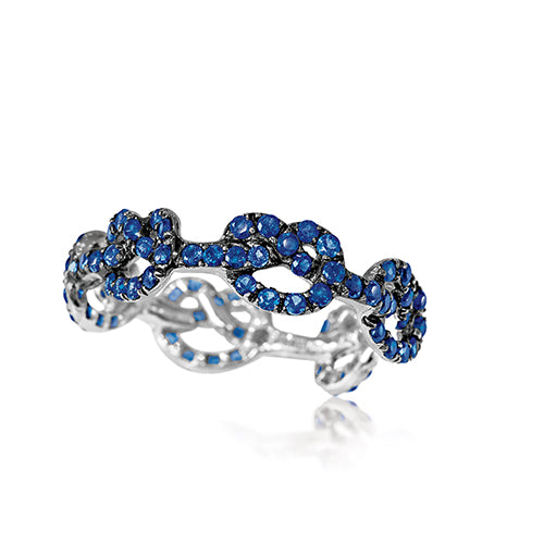Verdura-Jewelry-Love-Knot-_Ring-Sapphire-Blackened-White-_Gold