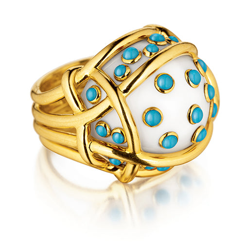 Verdura-Jewelry-Polka-Dot-_Ring-Cocholong-Turquoise-Gold