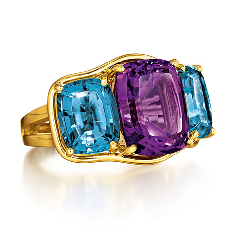 Verdura-Jewelry-Three-Stone-_Ring-Amethsyt-French-Blue-_Topaz-Gold