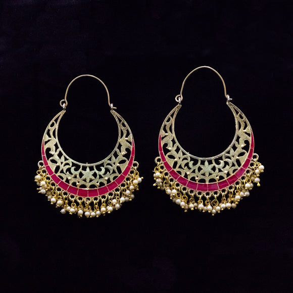 Gold Plated Traditional Earrings for Women
