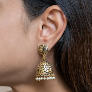 Gold Plated Jhumkis - The Pink Lane
