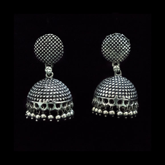 Designer German Silver Earrings - The Pink Lane