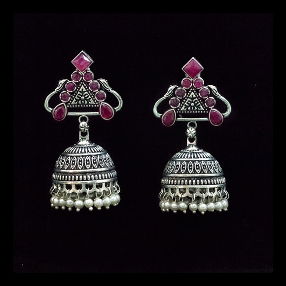 Designer German Silver Earrings