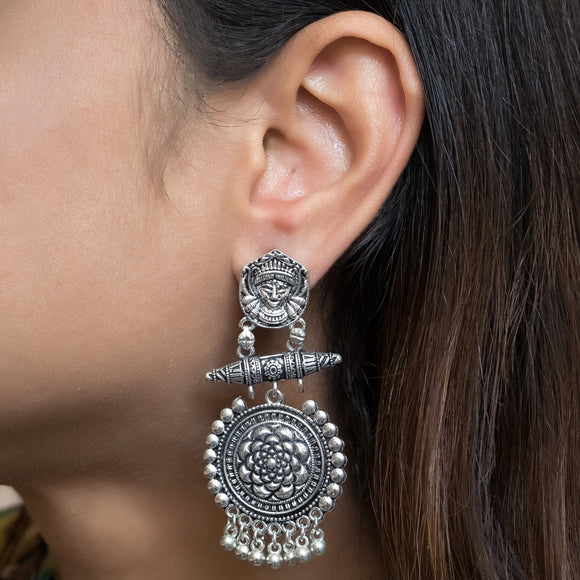 Trendy German Silver Earrings - The Pink Lane