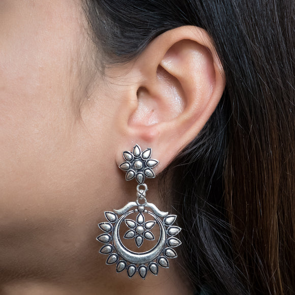 Elegant German Silver Earrings - The Pink Lane