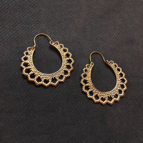 Gold Plated Trendy Earrings