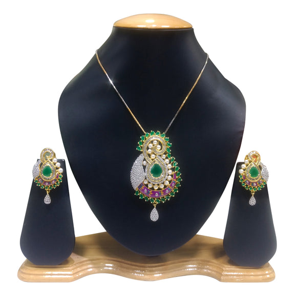 Designer Multicolred Pendent Set for Women