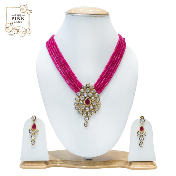 Multistring Kundan Pendant Set for Women
