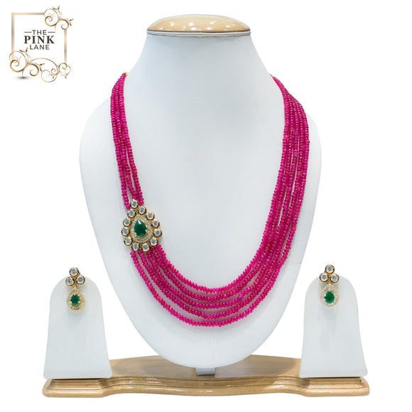 Multistring Kundan Necklace set for Women