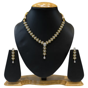 American Diamond Necklace Set for Women - The Pink Lane