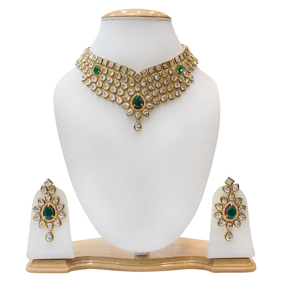 Traditional Kudan Necklace Set for Women