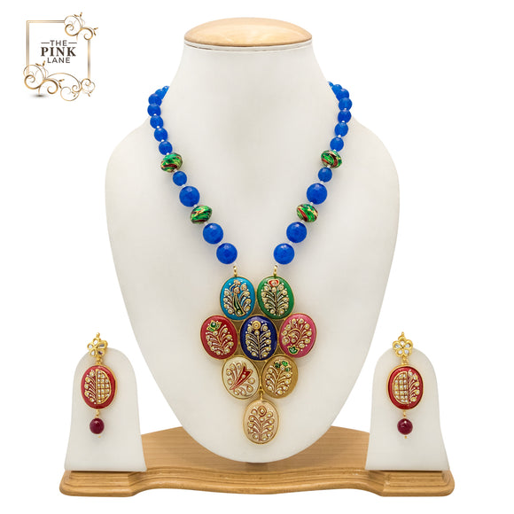 Multicolor Designer Handmade Necklace Set for Women - The Pink Lane