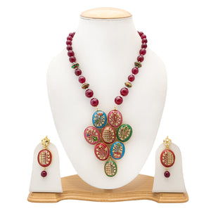 Multicolor Designer Handmade Necklace Set for Women