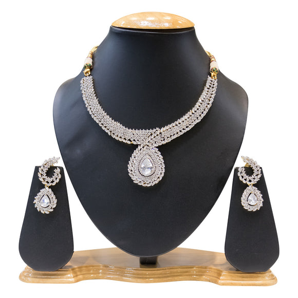 Fancy Party wear Necklace Set for Women - The Pink Lane