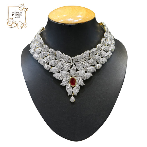 Designer American Diamond Necklace Set for Women