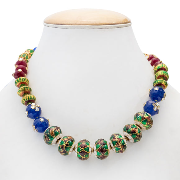 Designer Colorful Beaded Necklace Set for Women
