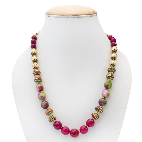 Designer Colorful Beaded Necklace Set for Women - The Pink Lane