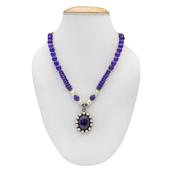 Traditional Purple Party Wear Necklace for Women - The Pink Lane
