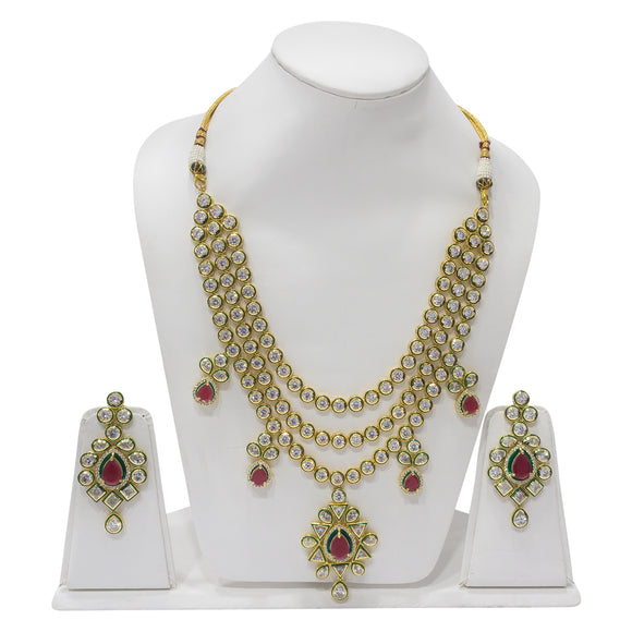 Traditional Gold Plated Rani Haar for Classy Women - The Pink Lane