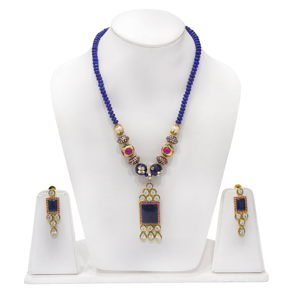 Stunning One of a kind Multicolored Beaded Necklace set - The Pink Lane