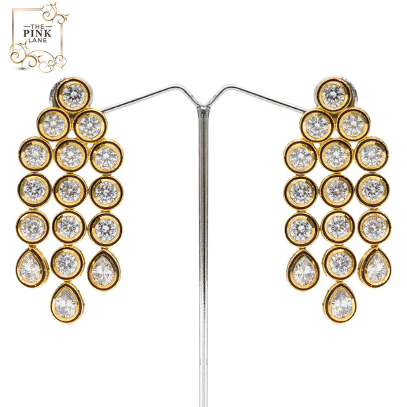 Gold Plated Kundan Danglers for Women