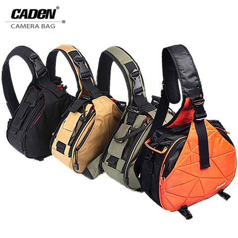 Caden Waterproof DSLR Shoulder Camera Bag with Rain Cover
