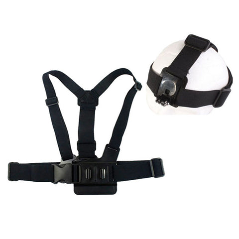 HigherRoad Elastic Adjustable Head Strap Mount Belt and Chest Belt Mount Kit