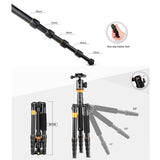 Andoer Professional Tripod Monopod  with Ball Head