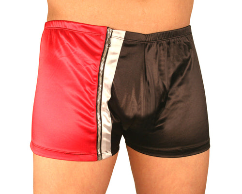 Contrast Zip-up Boxer Shorts