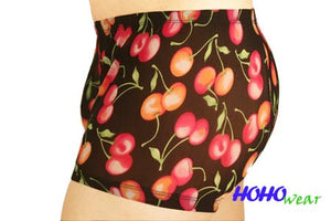 Cherry Printed Mesh Boxer Shorts