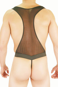 Sheer Bodysuit with Pouch