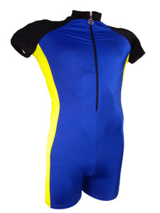 Contrast Zip-up Cycle Suit