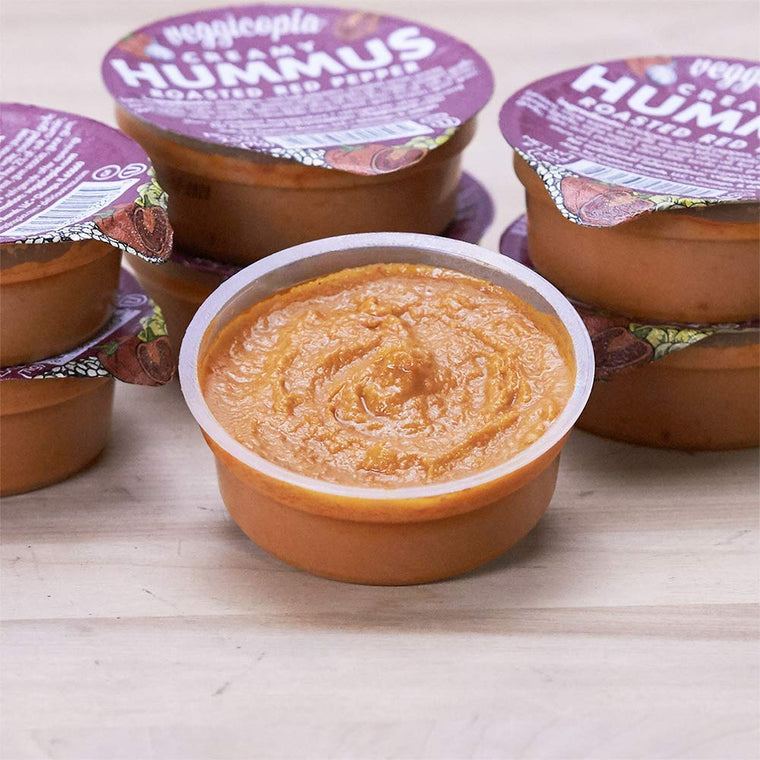 Veggicopia Creamy Roasted Red Pepper Hummus (multipack)