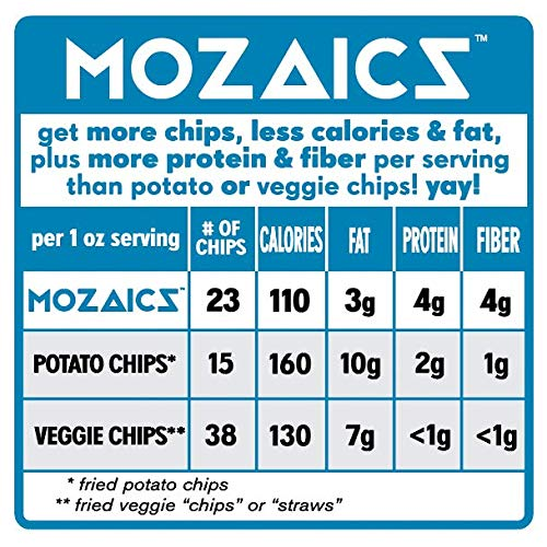 Mozaics Organic Popped Veggie & Potato Chips: Sea Salt (Club Size 15 oz.)