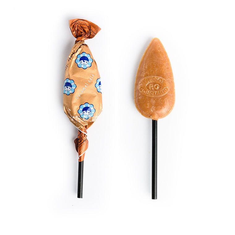 Pierrot Gourmand French Salted Caramel Lollipops: 48 and 100 pack deals!