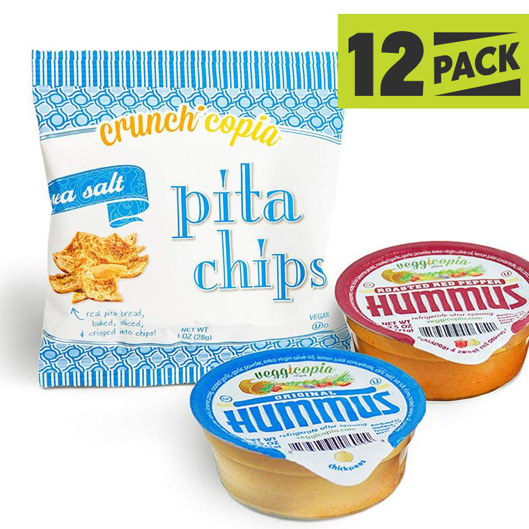 Dip & Chips - Veggicopia Hummus and Crunchicopia Pita Chips