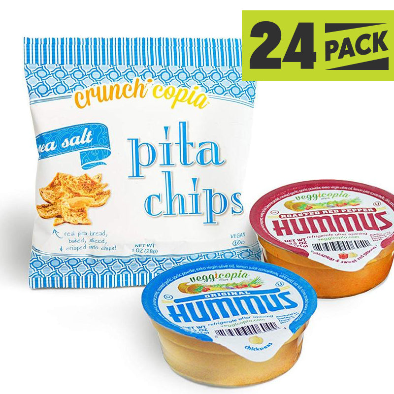 Dip & Chips - Veggicopia Hummus and Pita Chips