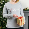 I Believe Rose Gold Stars Christmas Sweatshirt