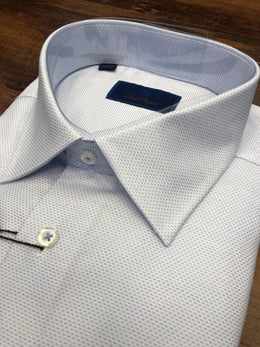 David Donahue Micro-Print Dress Shirt