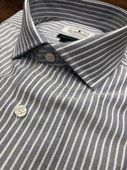 R. Coffee Ltd. Reverse Blue Oxford Stripe Shirt