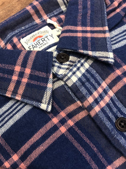 Faherty Stretch Seaview Flannel Cardiff Shirt